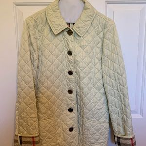 Authentic Burberry women's quilted jacket